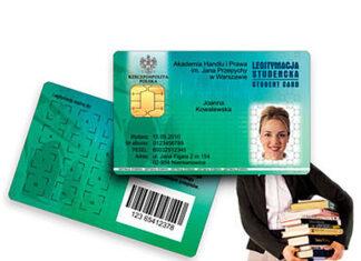 Naklejka, legitymacja studencka i indeks z nowym wyglądem